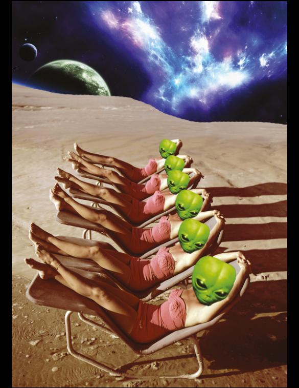 UFO Roswell Festival postcard.